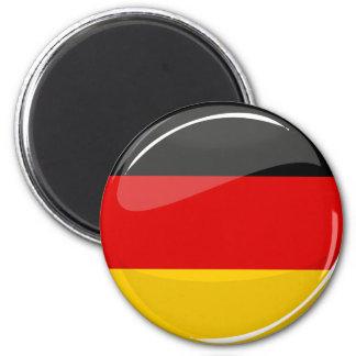 Glatte runde deutsche Flagge Runder Magnet 5,7 Cm