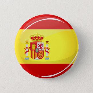 Glatte runde Flagge von Spanien Runder Button 5,7 Cm