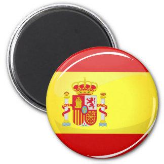 Glatte runde Flagge von Spanien Runder Magnet 5,7 Cm