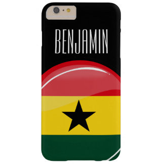 Glatte runde Ghanian Flagge Barely There iPhone 6 Plus Hülle