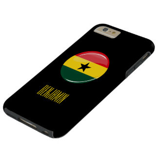 Glatte runde Ghanian Flagge Tough iPhone 6 Plus Hülle