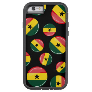 Glatte runde Ghanian Flagge Tough Xtreme iPhone 6 Hülle