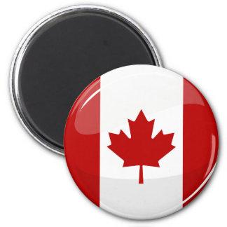 Glatte runde kanadische Flagge Runder Magnet 5,7 Cm