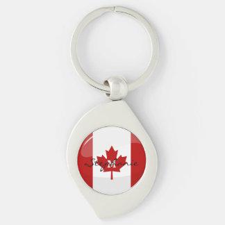Glatte runde kanadische Flagge Schlüsselanhänger