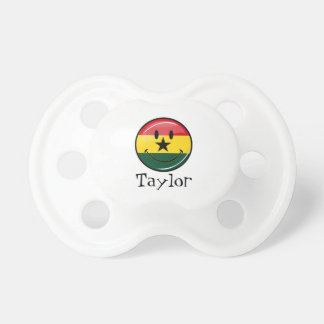 Glatte runde lächelnde Ghanian Flagge Schnuller