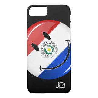 Glatte runde lächelnde Paraguay-Flagge iPhone 8/7 Hülle