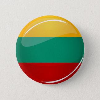Glatte runde litauische Flagge Runder Button 5,7 Cm