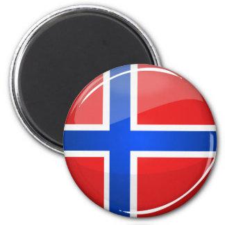 Glatte runde Norwegen-Flagge Runder Magnet 5,7 Cm