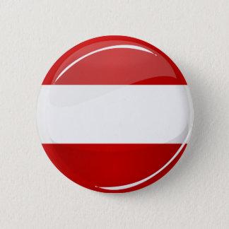 Glatte runde österreichische Flagge Runder Button 5,1 Cm