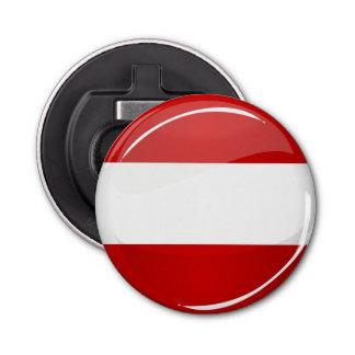 Glatte runde österreichische Flagge Runder Flaschenöffner