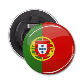 Glatte runde portugiesische Flagge Flaschenöffner