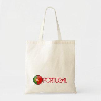Glatte runde portugiesische Flagge Tragetasche