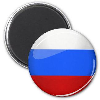 Glatte runde Russland-Flagge Runder Magnet 5,7 Cm