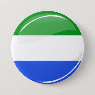 Glatte runde Sierra Leone-Flagge Runder Button 7,6 Cm