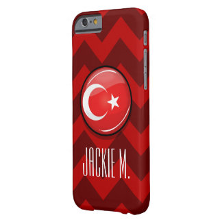Glatte runde türkische Flagge Barely There iPhone 6 Hülle