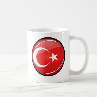 Glatte runde türkische Flagge Kaffeetasse