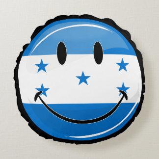 Glatte Runden-lächelnde honduranische Flagge Rundes Kissen