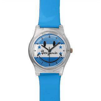 Glatte Runden-lächelnde honduranische Flagge Uhr