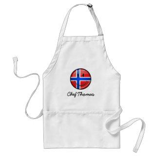 Glatte Runden-lächelnde norwegische Flagge Schürze