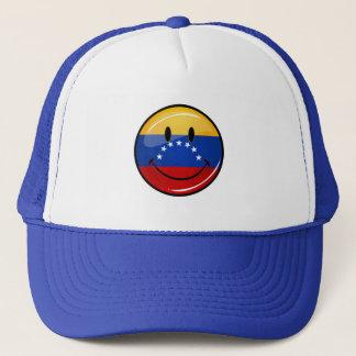 Glatte Runden-lächelnde venezolanische Flagge Truckerkappe