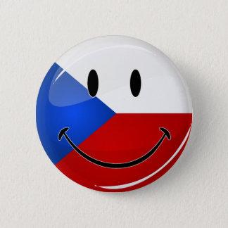 Glatte Runden-lächelnder tschechischer Runder Button 5,1 Cm
