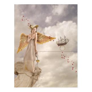 Glatte Segeln-Postkarte Postkarte