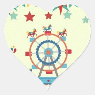 glatter Aufkleber des Zirkusses der Herzform