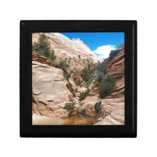 Glatter Felsen Zion Nationalpark Utah Geschenkbox
