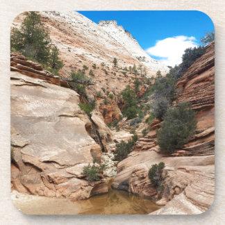Glatter Felsen Zion Nationalpark Utah Untersetzer