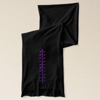 Glatter glänzender lila karierter Diamant-Schal Schal