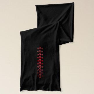 Glatter glänzender roter karierter Diamant-Schal Schal