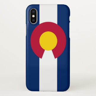 Glatter iPhone Fall mit Flagge von Colorado, USA iPhone X Hülle