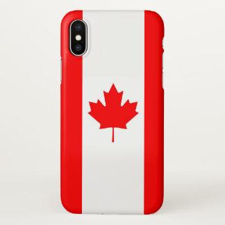 Glatter iPhone Fall mit Flagge von Kanada iPhone X Hülle