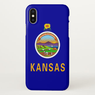 Glatter iPhone Fall mit Flagge von Kansas, USA iPhone X Hülle