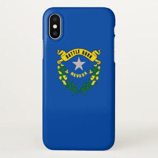 Glatter iPhone Fall mit Flagge von Nevada, USA iPhone X Hülle