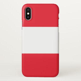 Glatter iPhone Fall mit Flagge von Österreich iPhone X Hülle