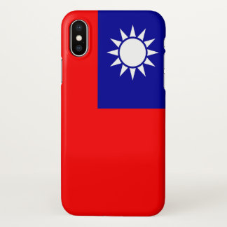 Glatter iPhone Fall mit Flagge von Taiwan iPhone X Hülle