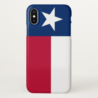 Glatter iPhone Fall mit Flagge von Texas-Staat iPhone X Hülle