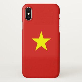 Glatter iPhone Fall mit Flagge von Vietnam iPhone X Hülle