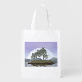 Glatter leaved Ulmenbonsaisbaum - 3D übertragen Wiederverwendbare Einkaufstasche