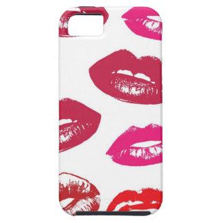 Glatter Lippentapeten-Hintergrund Schutzhülle Fürs iPhone 5