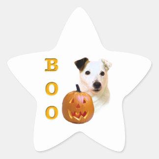 Glatter Mantel-Pastor-Russell Terrier Halloween Stern-Aufkleber