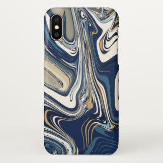 Glatter Marmortelefon-Kasten iPhone X Hülle