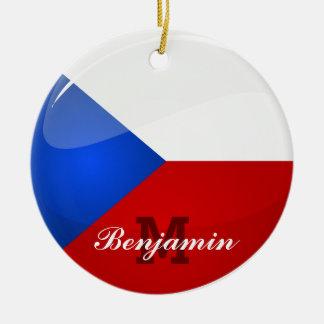 Glatter runder Tscheche-Repräsentant. Flagge Keramik Ornament
