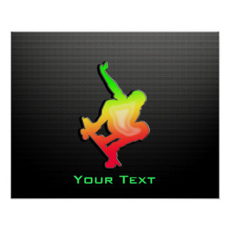 Glatter Skateboarding Plakatdruck