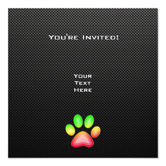 Glatter Tatzen-Druck Quadratische 13,3 Cm Einladungskarte