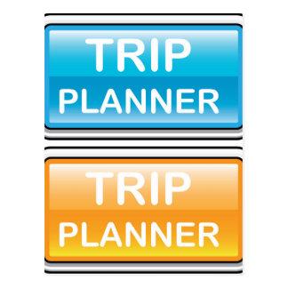 Glatter Vektor des Reise-Planer-Knopfes Postkarte