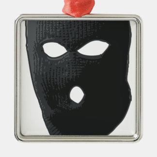 Glatter Verbrecher Silbernes Ornament