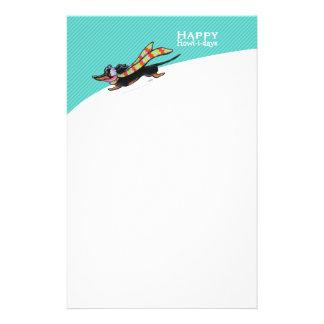 Glattes Dackel-Winter-WeihnachtsMod-Blau Büropapiere