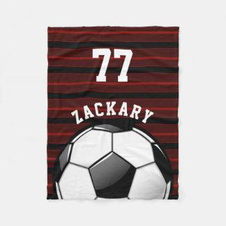 Glattes Fußball-Rot Fleecedecke